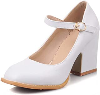 BalaMasa Womens Business Solid Huarache Leather Pumps Shoes APL10523