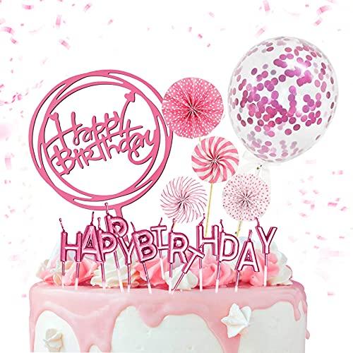 13 pcs Tortendeko Geburtstag,Cake Topper Happy Birthday, Cake Topper,Glitter Geburtstag Kuchen Topper,Happy Birthday Banner Girlande,Geburtstagsdeko,Tortendeko,Kuchendeko