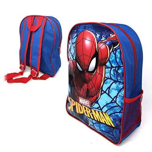 Official Licensed Kids Boys & Girls School Backpack with Side Mesh Pocket (Spiderman)