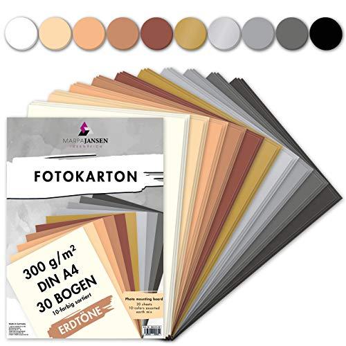 MarpaJansen Fotokarton 10 Erdtonfarben, DIN A4, 30 Bogen, 300g/qm