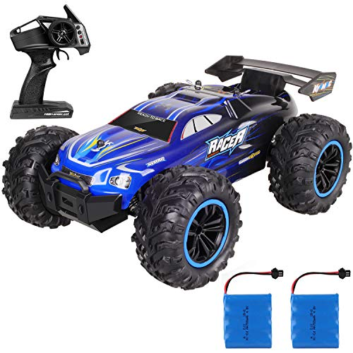 Kumary Remote Control Car, High Speed Off Road Remote Control Fast Racing Hobby Car, 2.4Ghz RC Car Electric Monster Toy Vehicle Truck with Two Rechargeable Batteries for All Ages