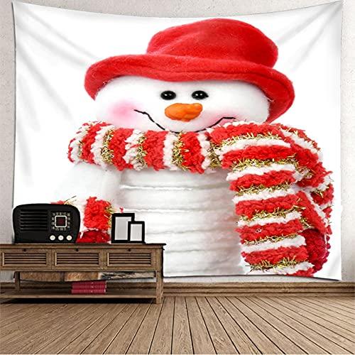 KnBoB Tapiz para Pared Pañuelo Sombrero de Muñeco de Nieve 150 x 130 CM Tapiz Poliester Anti Arruga Decoracion Habitacion