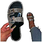 Shoes for Women Sandals Wedge Sandals for Women, Comfy Shining Diamond Roman Shoes Casual Summer Beach Travel Indoor Outdoor Flip Flops Slipper