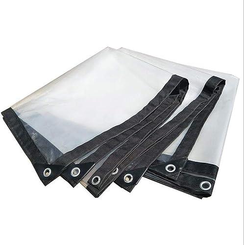 XRFHZT La bache Transparente épaissie Bord perforé imperméable à l'eau Anti-vieillisseHommest Plastique résistant à l'invioletteur,3mX5m