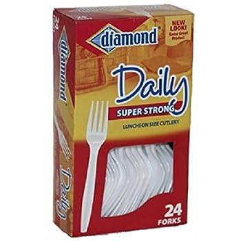 Diamond Plastic Forks - Box Count 1 - Folks/Spoon/Knife / Grab Varieties & Flavors