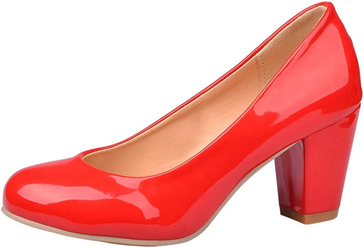 goldencar Fashion Women Pumps Simple Shallow high Heels shoes Round Toe Spring Autumn Single shoes