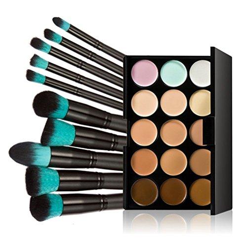 LEORX Face Contour Kit marcador maquillaje Kit 15 paleta cre