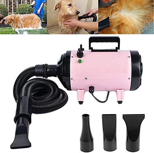 Soplador del secador de la preparación del Perro Piel del Gato de la Alta Velocidad Blaster secador Potente con 3 boquillas 2,5M Flexible JIAJIAFUDR