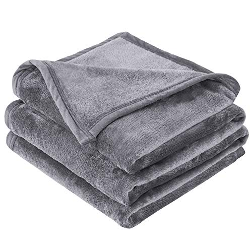 Fleece Queen Size Grey Lightweight Super Soft Velvet Throw Blanket $14.73 (51% Off)
