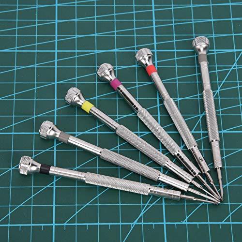 Destornilladores de relojeros profesionales Destornillador de reloj de acero inoxidable con 6 destornilladores con antioxidante