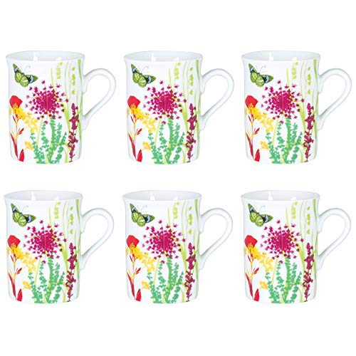 Table Passion - Coffret 6 mugs tutti fiori 30cl