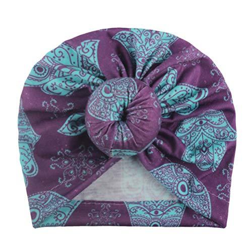 Borstu Mooie babyhoed pasgeborenen muts beanie boho hoofdband hoed infant cap schattig katoen turban voor kinderen 3-12 maanden