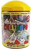 Original Gourmet 50ct Lollipop Tub, Lollipops and Suckers, Storage Container