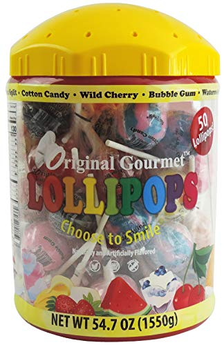 Original Gourmet 50ct Lollipop Tub, Lollipops and Suckers, Storage Container
