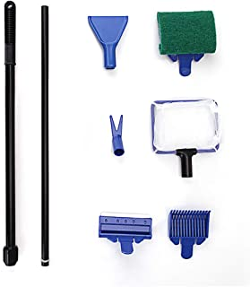 6-in-1 Aquarium Fish Tank Cleaning Kit Cleaning Accessories Retractable For Aquariums And Small And Medium-sized Fish Tanks Fish Nets, Algae Scrapers, Glass Sponges, Plant Forks And Gravel Crushers thumbnail