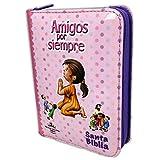 Biblia RVR 1960 Amigos por Siempre Acolchada Rosa con...