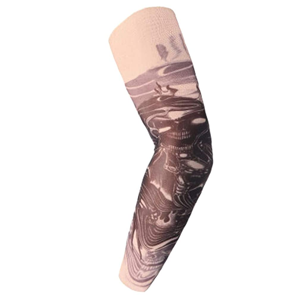 Sun protection Arm Sleeves, Fashion Tattoo Print Arm Sleeves Breathable Anti-slip Cuffs UV Protection Compression Sun Sleeves (V)