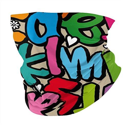 Pañuelo para cuello de grafiti, transpirable, pasamontañas, antiviento, antipolvo, para hombres y mujeres