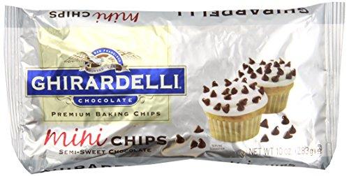 Ghirardelli Mini Semi-Sweet Chocolate Premium Baking Chips - 10 oz. (283g), 12 bags
