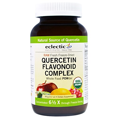 Eclectic Institute Raw Fresh Freeze-Dried, Quercetin Flavonoid Complex, Whole Food Powder, 3.2 oz (90 g)