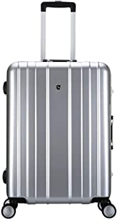 KTYXDE Travel Suitcase, Universal Wheel, Travel Trolley Case, Boarding Case, Luggage, Waterproof and Wear-Resistant Aluminum Frame Trolley case (Color : Silver, Size : 38x25x57cm)