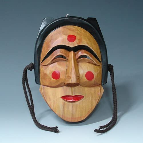 Hand Carved Korean Hahoe Woman Dance Wall Cheap mail order specialty store Pla Smile Max 56% OFF Decor Wooden