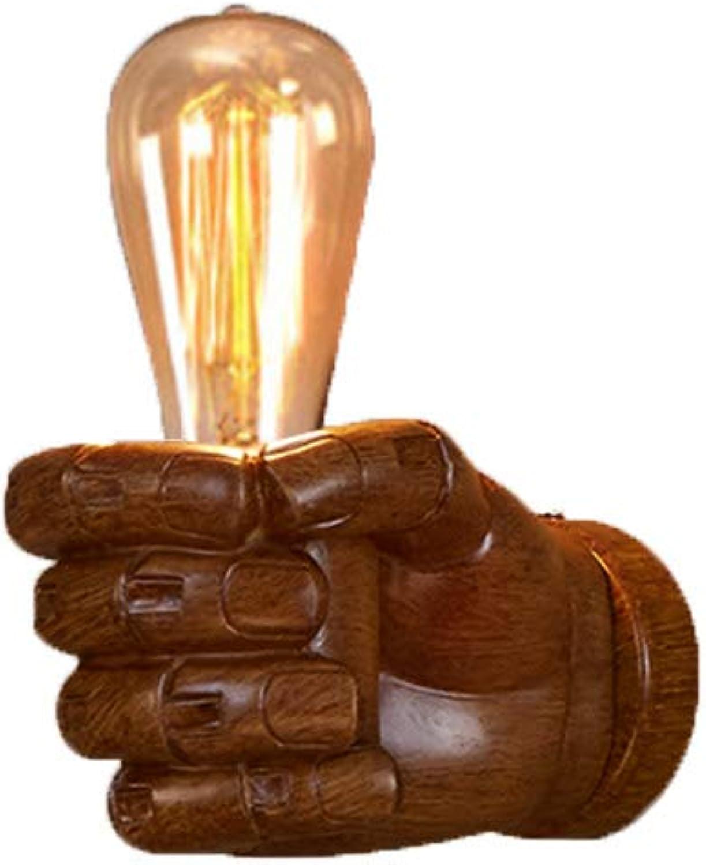 Wandleuchten Wandlampe Wandbeleuchtung Cafe Restaurant Korridor Harz Dekoration Wand Lampe Loft Industrial Wind Wohnzimmer Nacht Faust ZHAOYONGLI (Farbe   Rechte Hand, gre   ST64light Source)