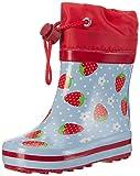 Beck Erdbeere - Stivali di Gomma Bambina,Blu (Hellblau), 23 EU