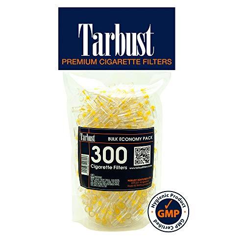 Tarbust Filtros para Cigarrillos, Filtros Desechables, Paquete Económico, 300 por Paquete | Con il Sistema de Bloqueo de Nicotina, de Alquitrán | Compararlo con Cut-Nic,8mm