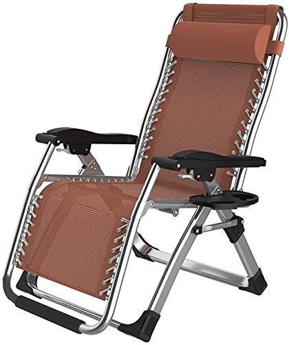 PARTAS Sonnen Daze Folding Recliners Stuhl Office Portable Balkon Ältere Freizeit-Strand-Begleitaußen Lounger Mittagessen Siesta Doppel Alloy Lock-Liegestuhl. (Color : C)