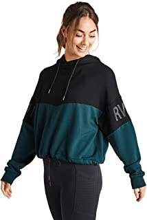 Rockwear Activewear Women's Midnight Drawcord Logo Hoodie from Size 4-18 Hoodies & Sweats for Tops