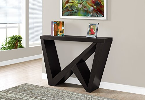 "Monarch Specialties Cappuccino Hall Console Accent Table, 48"", Brown"