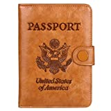 Zoppen Rfid Blocking Passport Holder for Women Travel Accessories Passport Cover Leather Wallet, 05 Tan