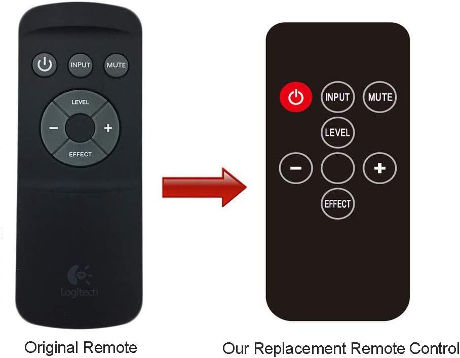 Replacement for Logitech Z906 Remote Control with Battery, Speakers System Audio Accessories