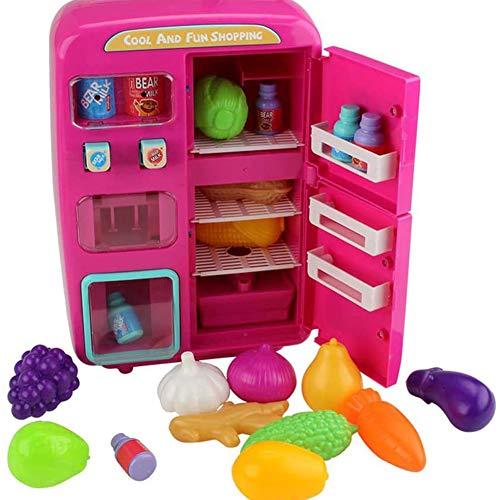 Speelhuis speelgoed Koelkast Mini simulatie kinderen meisje jongen vibrato Spray Spray Cut Kitchen Set