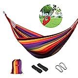 logeiHamaca para Camping Excursión al Aire Libre Jardín Capacidad de Carga 150Kg, 200 * 100cm, Multicolor
