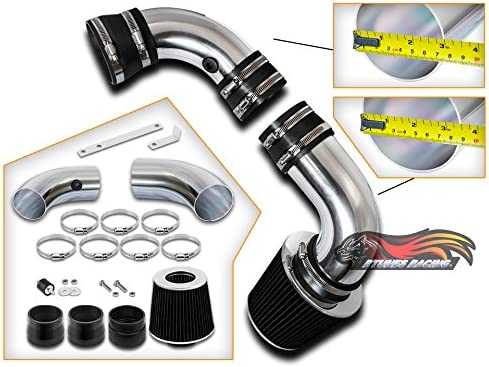 Rtunes Topics on TV Shipping included Racing Cold Air Intake Kit Filter + Compatibl Combo BLACK