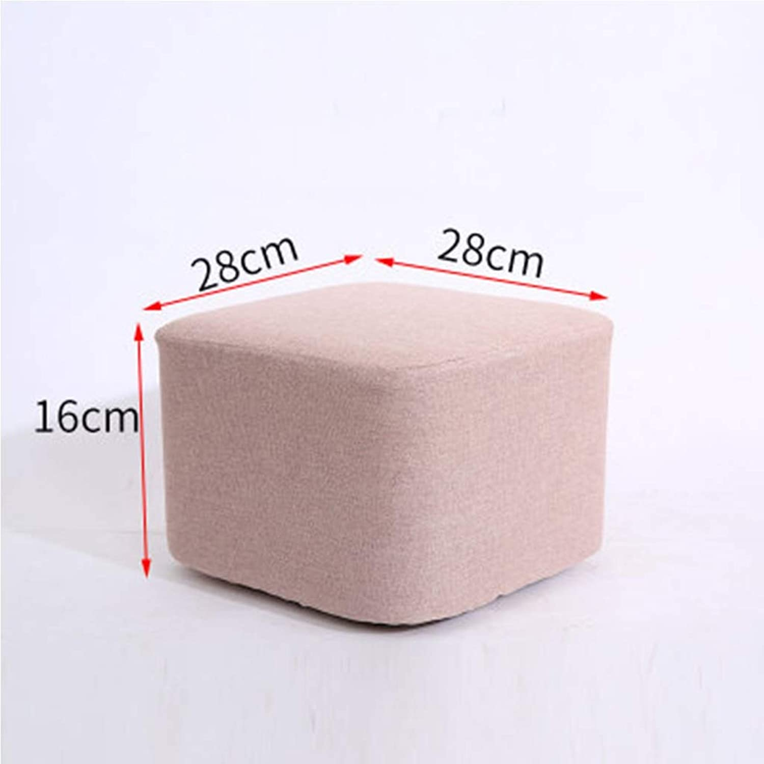 ZHBWJSH Solid Wood Fabric Change shoes Stool Fashion Stool Creative Sofa Bench Coffee Table Stool Pier Stool Home Small Bench Footrest (color   B)