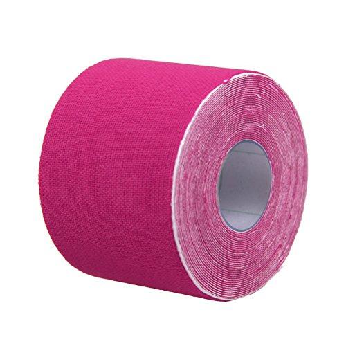 VORCOOL Deportes Cinta de Kinesiología Atlética Deportes Adhesivo de Alivio del Dolor 5CM x 5M (Pink)