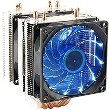 CPU Cooler Dual Fan PC Heatsink? LED Fan Computer CPU Air Cooling Cooler Radiator?Universal Socket Solution