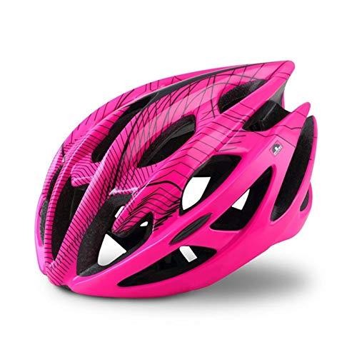 Casco de Bicicleta de montaña Profesional con Gafas Ultralight All-Terreno Casco de Bicicleta Casco Deportivo Casco de Ciclismo (Color: Rojo, Tamaño: Grande) (Color : Pink, Size : M)