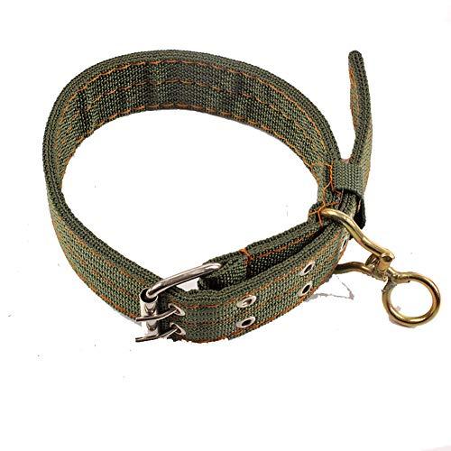 Egurs hondenhalsband voor medium grote honden, militaire groen, dubbele rijen gesp, verstelbare hondenhalsband, duurzaam nylon, geschikt voor gouden reders, herdenking, husky