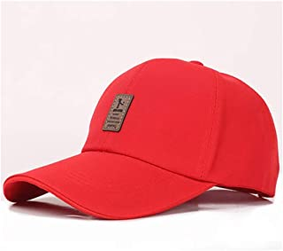 WYMAI Men's Spring and Summer Outdoor Sports Baseball Cap Fashion Cap Sun Hat Spring and Autumn Women's Cap Simple and Practical Product (Color : Red)