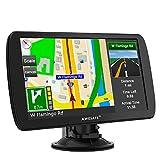 AWESAFE GPS Poids Lourds GPS Voiture 9 Pouce Écran Tactile 48 cartographie Nationale Mises à Jour gratuites Chaque année (9 Pouces + Carte + Bluetooth)