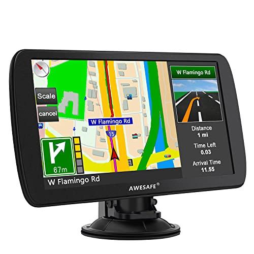 AWESAFE GPS Poids Lourds GPS Voiture 9 Pouce Écran Tactile...