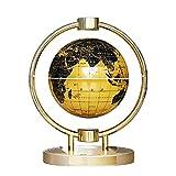 Schwebender Lautsprecher Globus Lautsprecher,Freischwebender Lautsprecher mit Bluetooth 4.2, Magnetische Aufhängung Globus Erde Drehen LED Nachtlicht 360° Rotierende Soundeffekt
