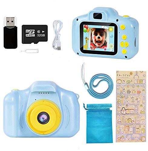 Ibello Cámara Digital para niños con Tarjeta Micro SD 32 GB Cámara de Fotos para niños 1080P Cámara Fotos Infantil Regalo Ideal para Navidad, el día de los Reyes Magos, Cumpleaños