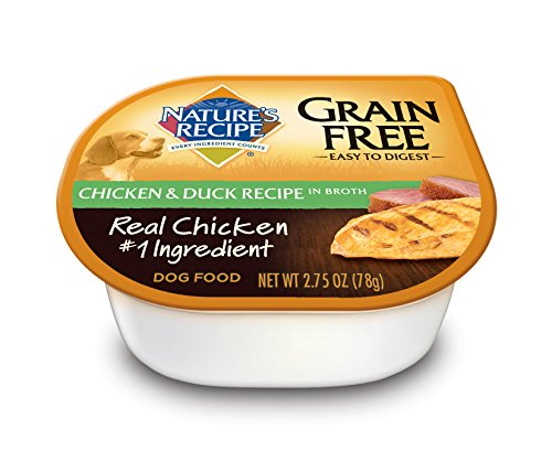 Nature'S Recipe Wet Dog Food, Grain Free, Chicken & Duck Recipe In Broth, 2.75-Ounce Cup (Pack Of 24)