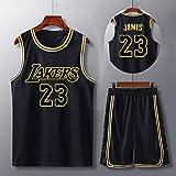 レイカーズ50番バスケットボールジャージー、レブロンジェームズマンバジャージー、ジムベストスポーツトップ、男子バスケットボールジャージー、マンバ記念服、レイカーズチャンピオンシップ