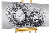 Monica Mirafiori I Cuadro 'Orkan' I XXL lienzo pintado a mano   pintura acrílica sobre lienzo   cuadro acrílico muy grande sobre bastidor I Arte moderno (140 x 70 cm)